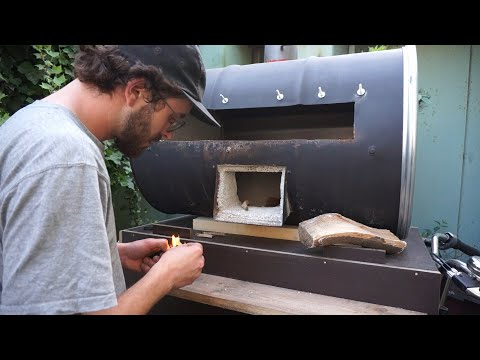 DIY Barrel Pizza Oven + 1st try out