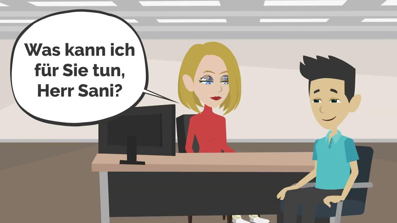 Deutsch lernen | Im Ausländeramt