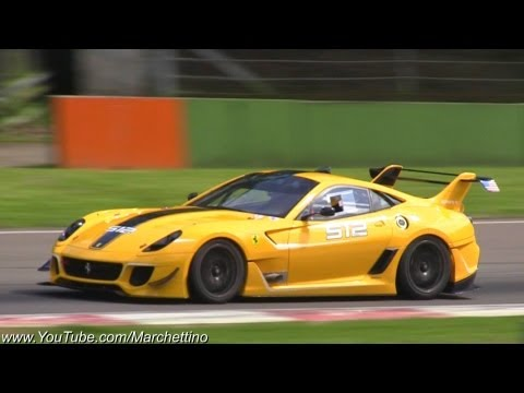 Ferrari 599XX EVO Insane Accelerations and Downshifts!