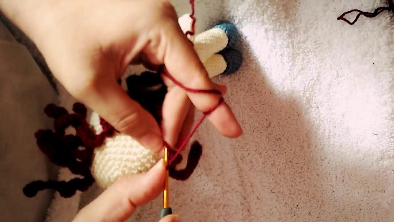 Amigurumi Bebekte Saç Yapımı : Amigurumi saç yapımı oyuncak bebek saç yapımı youtube
