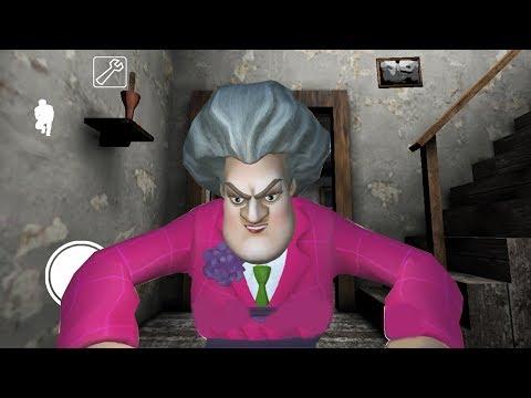 МИСС Т ходит за мной в доме ГРЕННИ Приколы над бабкой Scary Teacher 3D
