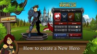 Beleen البرنامج التعليمي: كيفية إنشاء بطل جديد في AdventureQuest العالمين