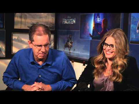 Frozen: Chris Buck - Director & Jennifer Lee - Director/Writer On Set Movie Interview
