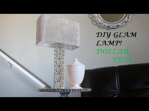 DIY Glam Lamp! Dollar Tree!