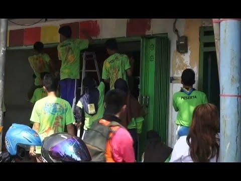 Sambut Asian Games, Warga Jember Melukis Kampung
