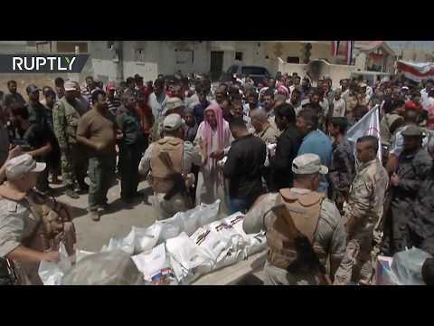 Ejército ruso entrega ayuda humanitaria en Siria
