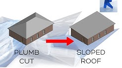 REVIT 2017 | SLOPED ROOF - CREATE A SLOPED ROOF EASY