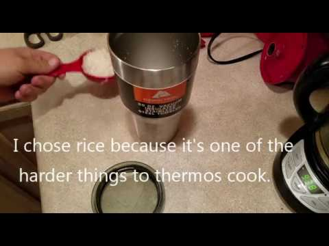 Thermos Cooking In A Ozark Trail Vacuum Insulated