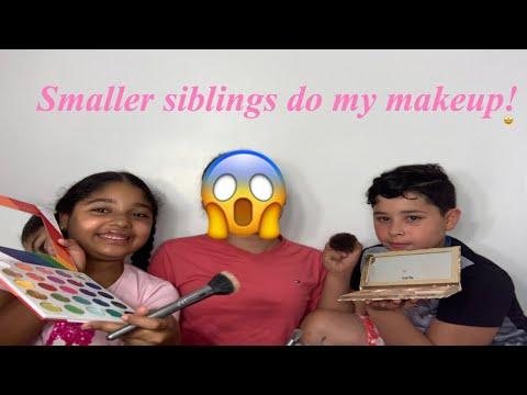 Little Siblings Do My Makeup  Lucyy Bree