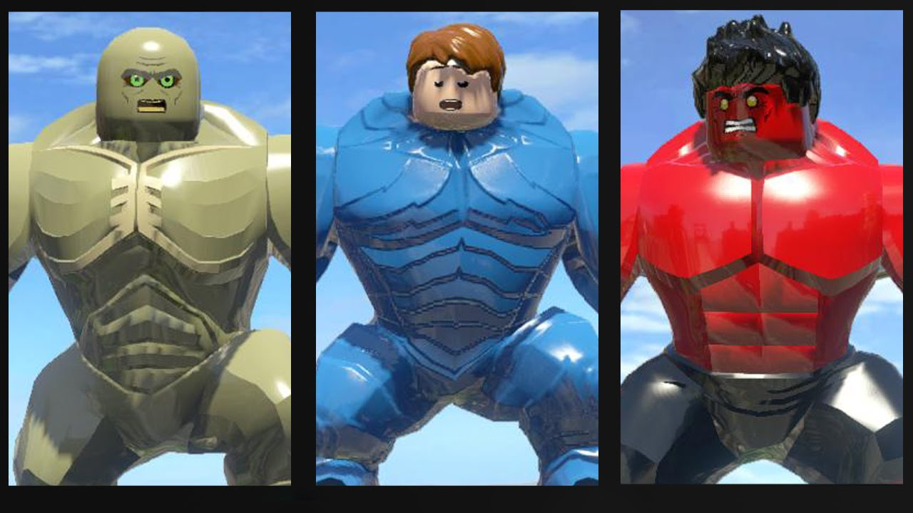 ABOMINATION VS RED HULK VS A-BOMB TRANSFORMATION - LEGO ...