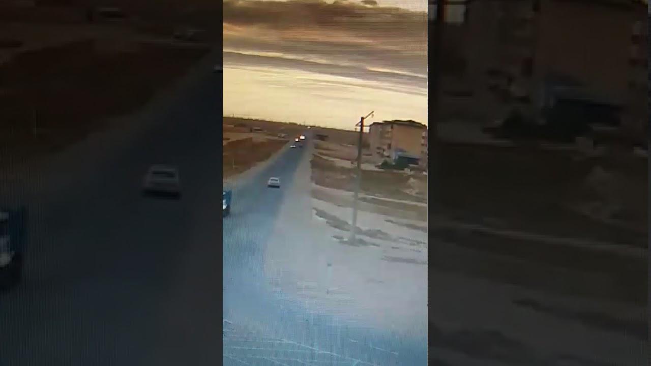 ДТП Жанаозен с камеры видеонаблюдения