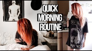 Morning routine on a rush! -  No make up make up glowy look