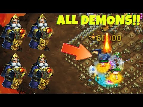 Killed All 4 Demons | INSANE DUNGEON 6/10 | CASTLE CLASH