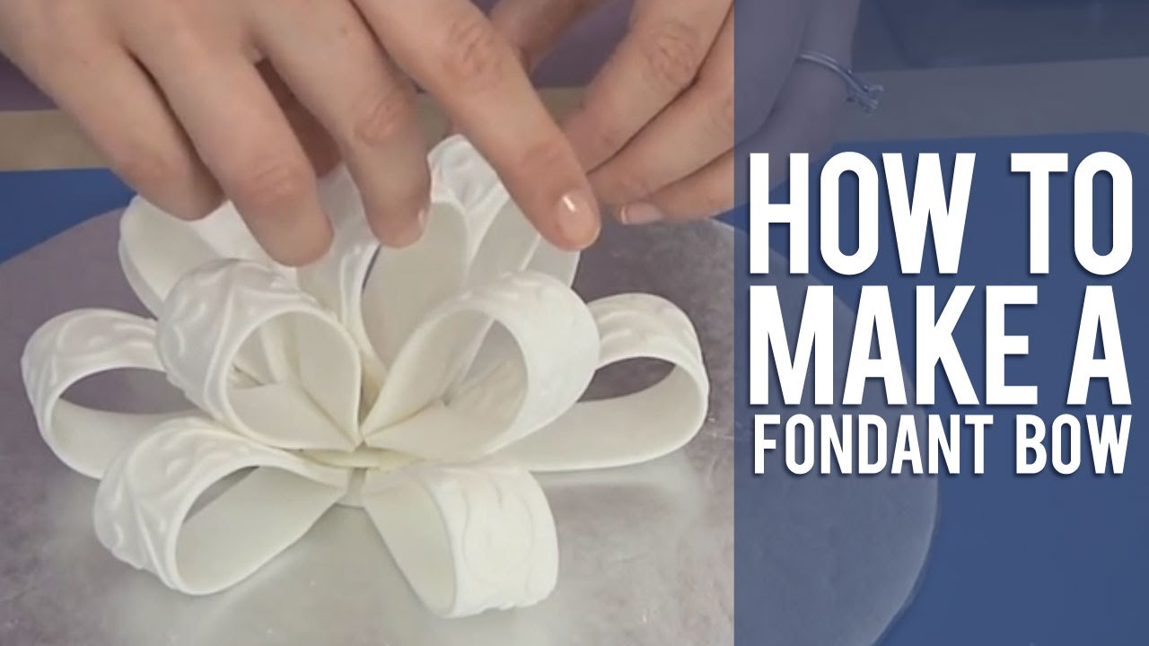 Cake Decorating How To Make Fondant : How to Make a Fondant Loop Bow - YouTube