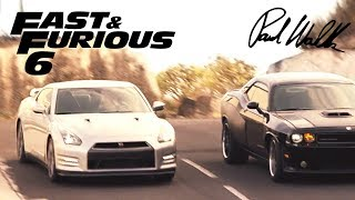 Opening Race - FAST and FURIOUS 6 (GT-R & SRT8) 1080p