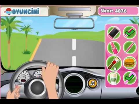 Barbie arabada eğlence oyunu oyna