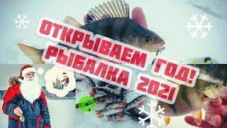 ЛОВЛЯ ОКУНЯ НА ЗИМНЮЮ БЛЕСНУ Рыбалка 2021 Попал на щедрые лунки