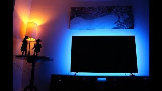 How to install LED light strips behind TV (USB LED STRIP FOR TV)