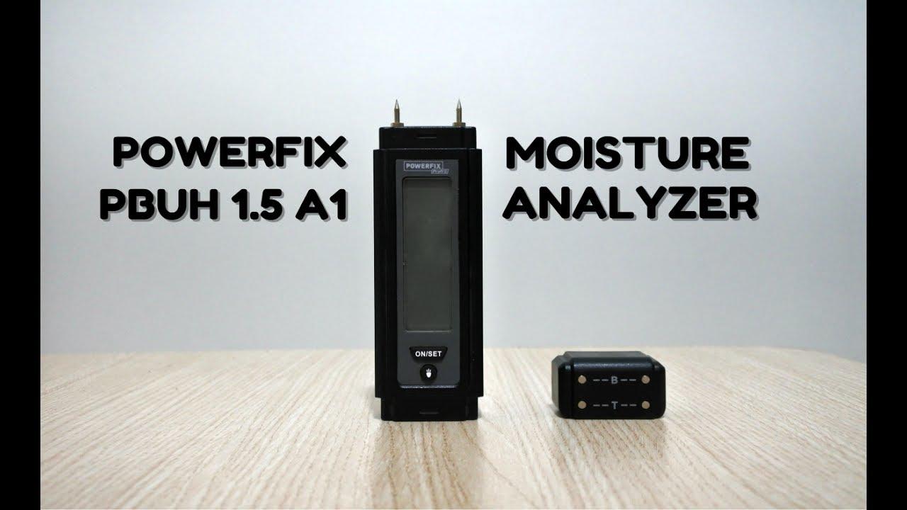 Powerfix pbuh 1.5 a1 construction and wood moisture analyzer youtube