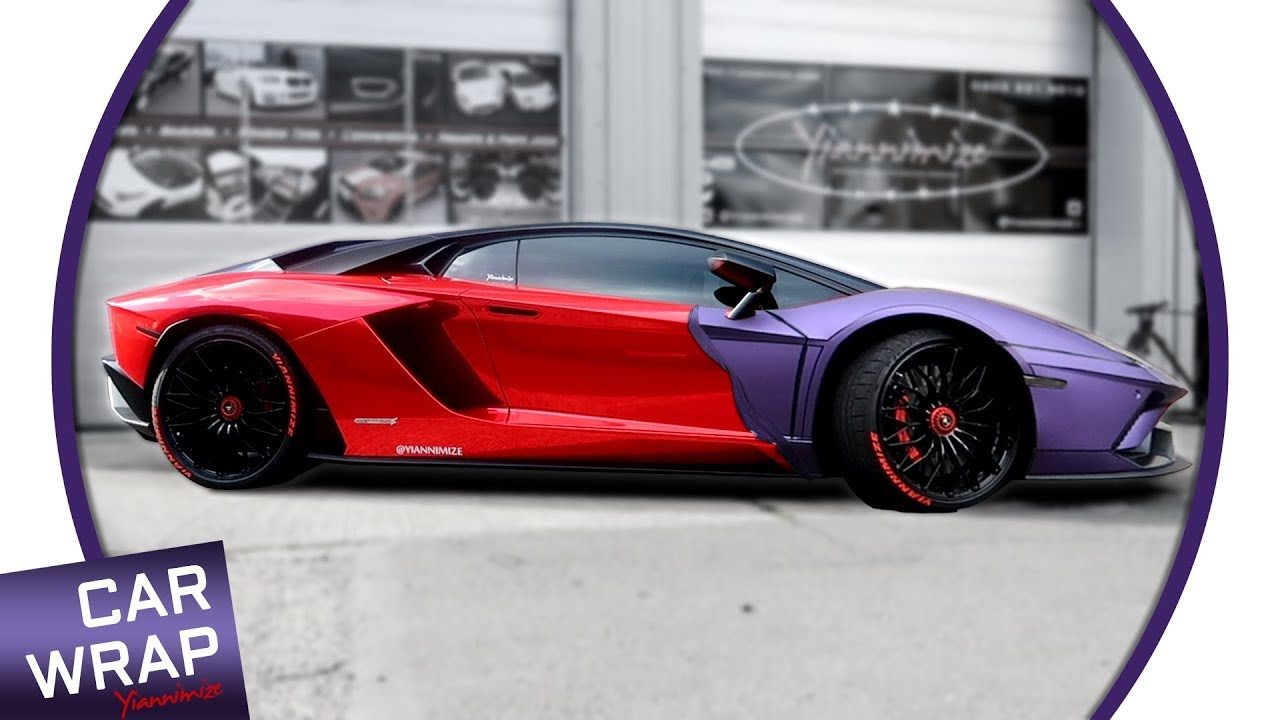 Lamborghini Aventador S Stripped And Wrapped Matte Purple Youtube