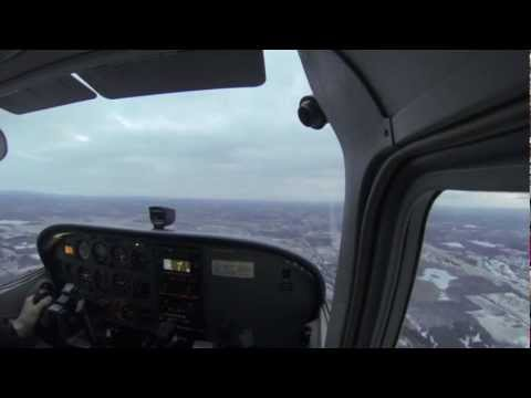 Flying Cessna 172 from KFNT Flint to D95 Lapeer for a few Landings with GoPro Hero 3 Black