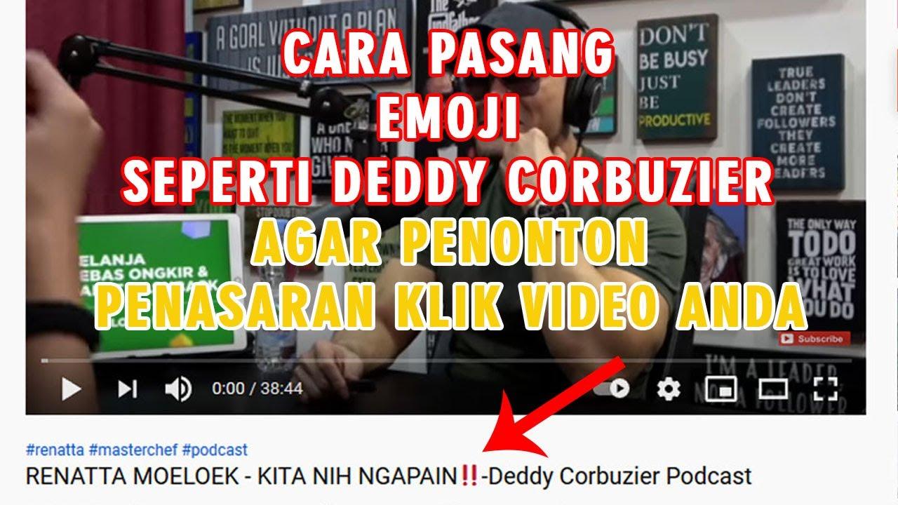 Cara Menggunakan Memasang Emoticon EMOJI pada Judul Video Youtube Agar Seo friendly Via Laptop HP 👍