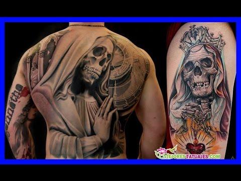 Tatuajes De La Santa Muerte Para Mujeres Y Hombres Youtube