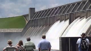 Flood Gates Opening at Clark Hill Dam