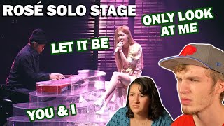 ROSÉ SOLO STAGE - LET IT BE, YOU & I + ONLY LOOK AT ME (COUPLE REACTION!) [2018 SEOUL TOUR DVD]