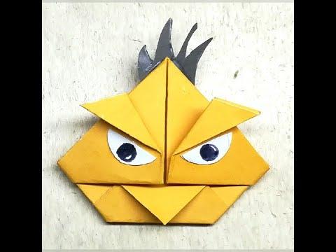 Origami Angry Bird| DIY Bird | Paper Animal Craft