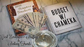 January 2020-Paycheck 1 Cash Envelope Stuffing + Sinking Funds(w/wine)