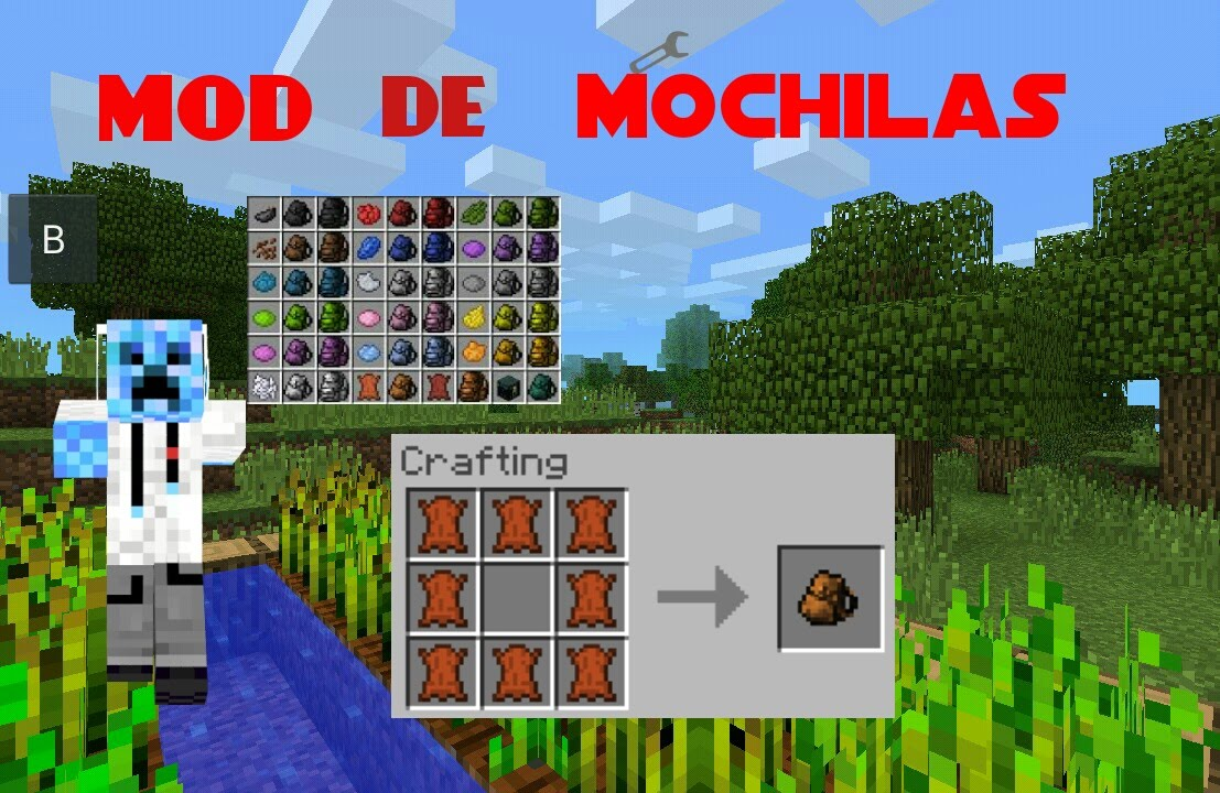 how to make a backpack in minecraft pe no mods