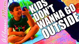 Kids playing with Water balloons and Bubbles   Outdoor games   A Classic Mom