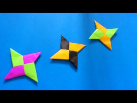 How To Make Origami Shuriken 4 Blade | Origami