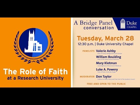 The Role of Faith at a Research University
