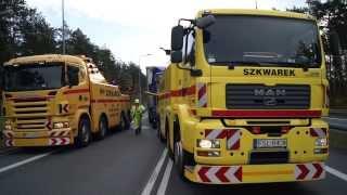 Pomoc Drogowa - Holowanie ciągnika siodłowego - Holowanie Niemcy, Autostrada A2 - www.szkwarek.com
