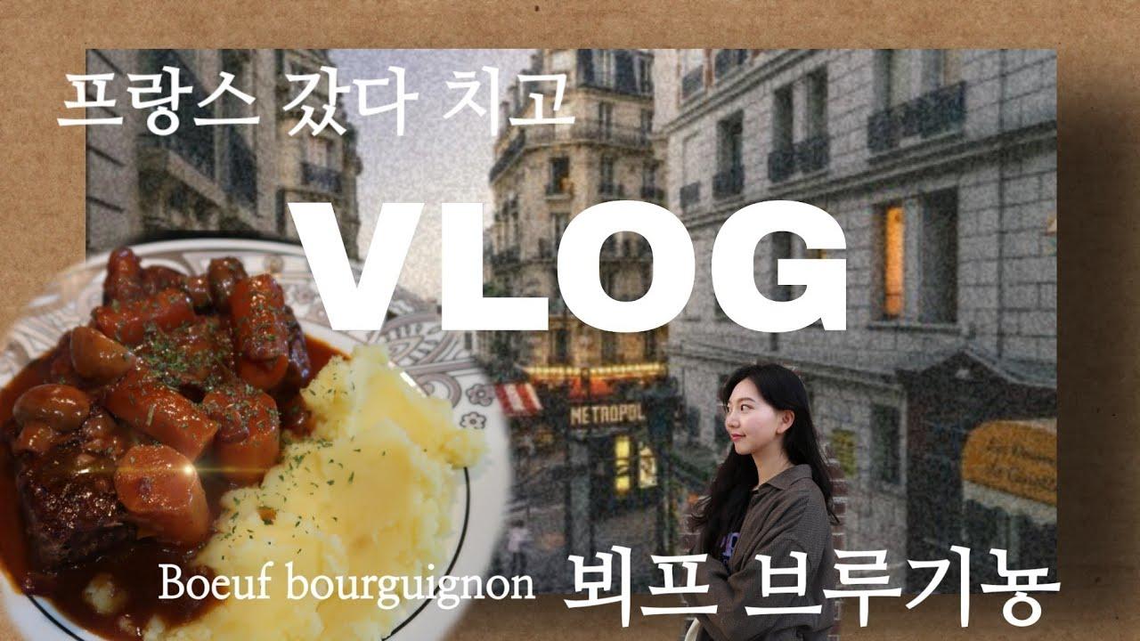 [VLOG] 미국브이로그|미국일상|뵈프부르기뇽 만들기! 방구석프랑스여행
