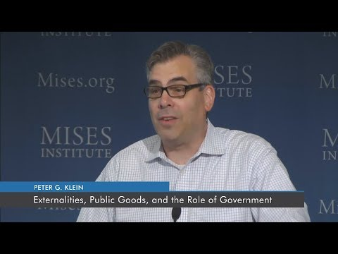 Externalities, Public Goods, and the Role of Government | Peter G. Klein