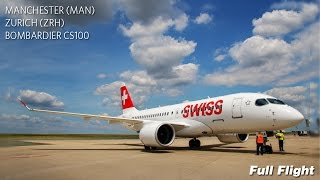 Swiss Bombardier C Series CS100 Full Flight | Manchester to Zurich | Business Class (with ATC)(A full length full flight video in real time with Swiss, from Manchester to Zurich in business class, onboard Bombardier C-Series CS100 HB-JBA operating flight ..., 2016-08-05T08:36:30.000Z)