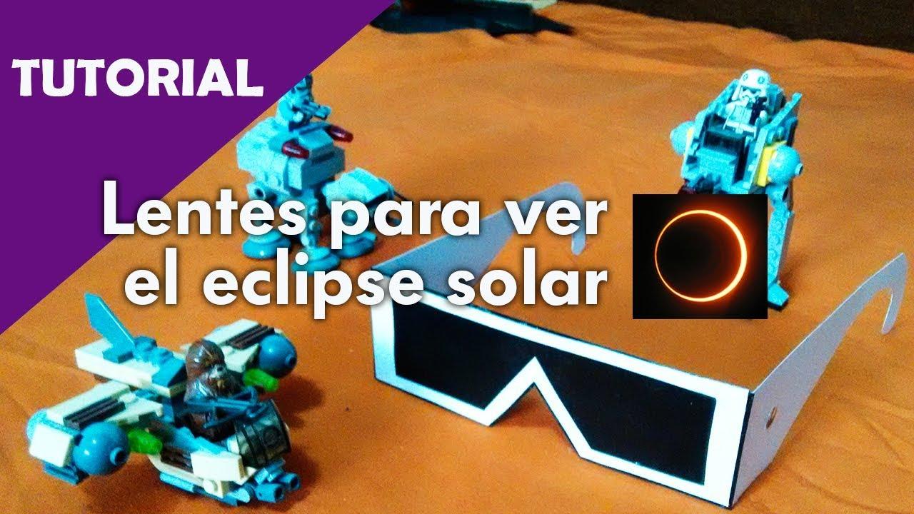6801551f64 Como hacer lentes caseros para ver el eclipse solar - tutorial - YouTube