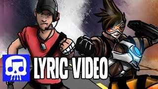 Repeat youtube video TRACER VS SCOUT Rap Battle LYRIC VIDEO by JT Machinima