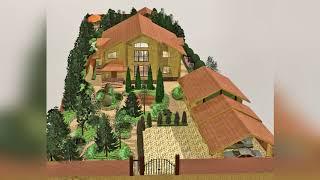 Эффектный ландшафтный дизайн дома в Волоколамске
