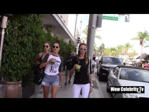 Alessandra Ambrosio takes a walk with friends in Beverly Hills