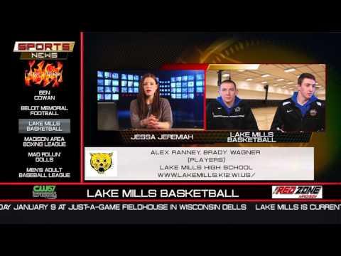 The Sports News | Alex Ranney & Brady Wagner | Lake Mills Basketball | 1/4/15