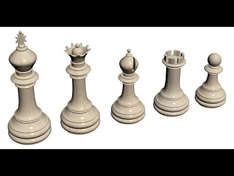 How To Model A Complete Chess Set In 3Ds Max Part - 1 Urdu/Hindi