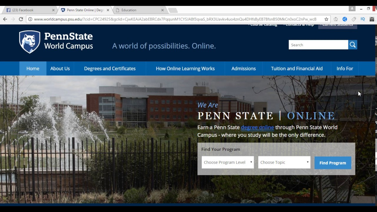Penn state world campus youtube penn state world campus 1betcityfo Choice Image