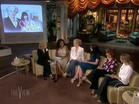 Meryl Streep, Anne Hathaway and Stanley Tucci on The View (06/30/2006)