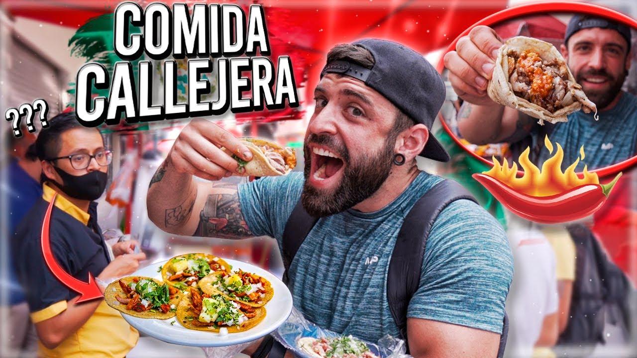 Download COMIENDO COMIDA CALLEJERA en MEXICO POR PRIMERA VEZ 🌶️ *asi reaccionan al verme comer picante*