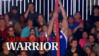 Travis Rosen at Stage 4 of American Ninja Warrior USA vs. The World 2014 | American Ninja Warrior