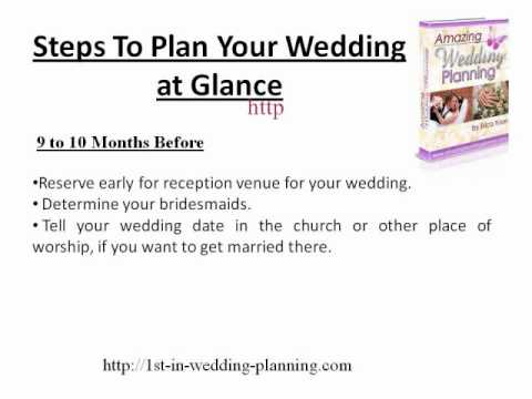 steps to plan a wedding wmv youtube